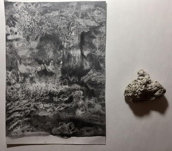 Passage du temps, graphite sur papier 15x21 cm
