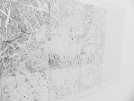 Empreinte, graphite sur papier 87x128 cm
