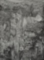 Paysage rocheux, graphite sur papier 50x65 cm