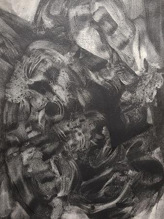 Histoire de sillons, graphite et encre sur papier 29x40 cm