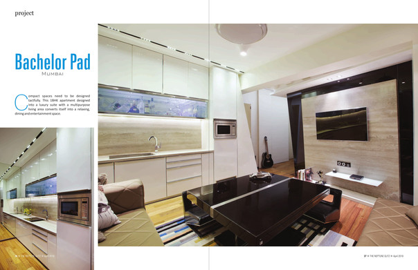 Bachelor Pad featured in Neptune Glitz Magazine !