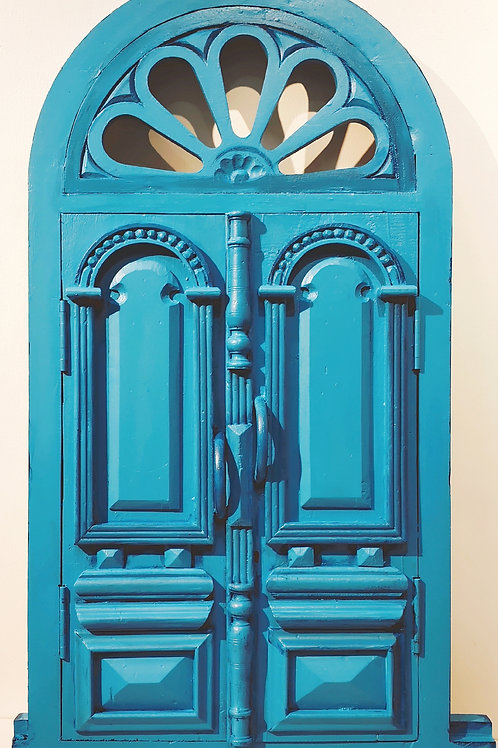 Handcrafted Window : Mediterranian Blue