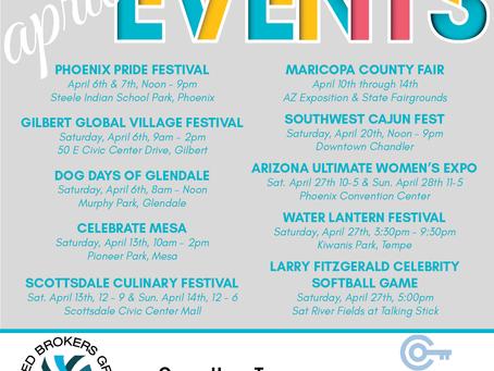 April Events Around Phoenix