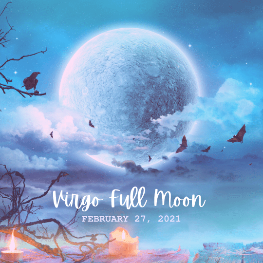 virgo full moon, February 27, 2021 by ask a little witch
