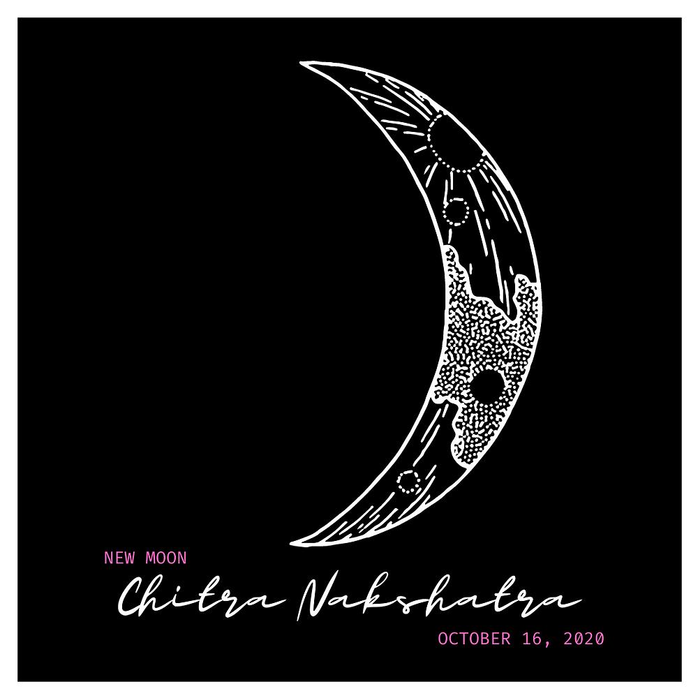 new moon in libra 2020, chitra nakshatra, october 16 2020,