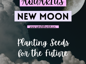 Aquarius New Moon 🌙 Planting Seeds for the Future.