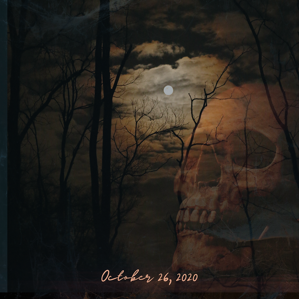 weekly horoscope, halloween 2020, October 26 2020, Skull, Full Moon, Trees, spooky