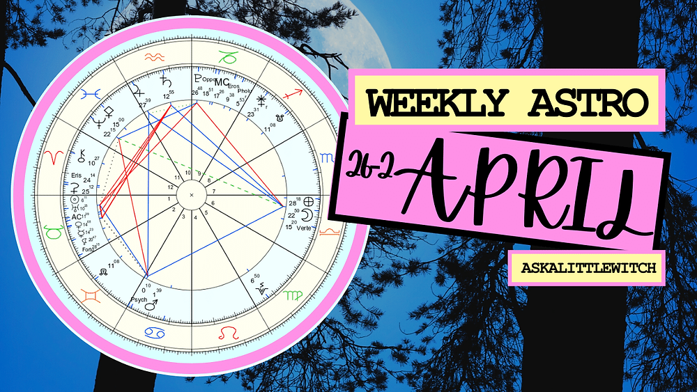 Weekly Horoscope by ask a little witch, witches horoscope for April 26-May 2, 2021