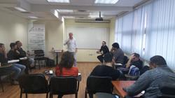 נדב יעקבי בהרצאה במכללת ספורט פאנל