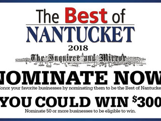 Vote for Us in the Best of Nantucket 2018 Contest!