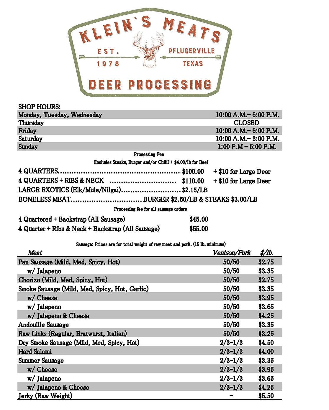 Klein's Price Sheet 2020.jpg