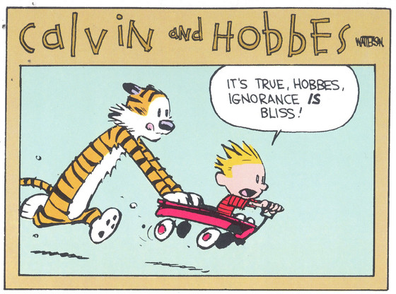 Ignorance is...not bliss!