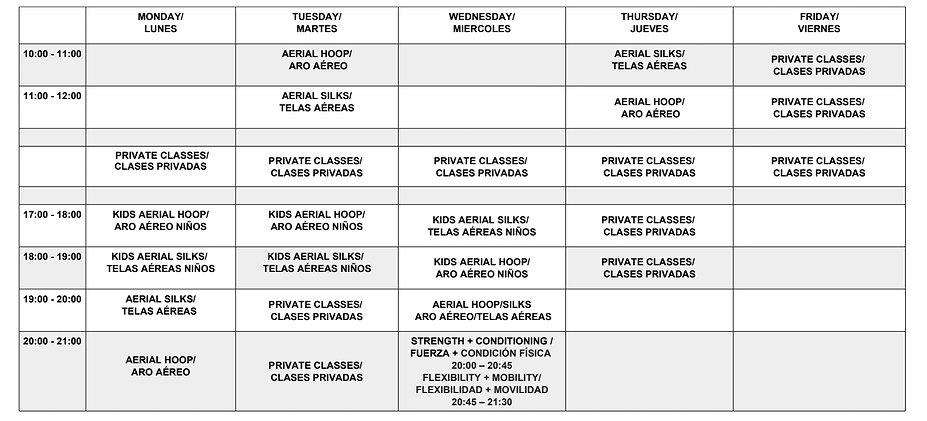 Nov Timetable 2019