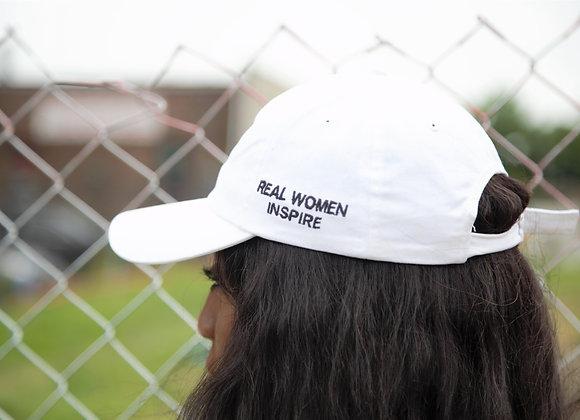 """RWI White Classic"" dad hat"