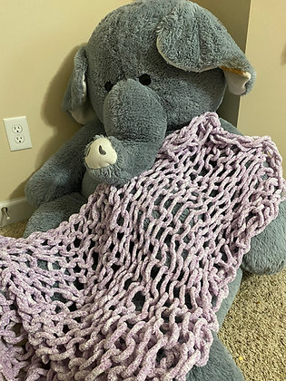 Hand Crochet Child Snuggle Blanket