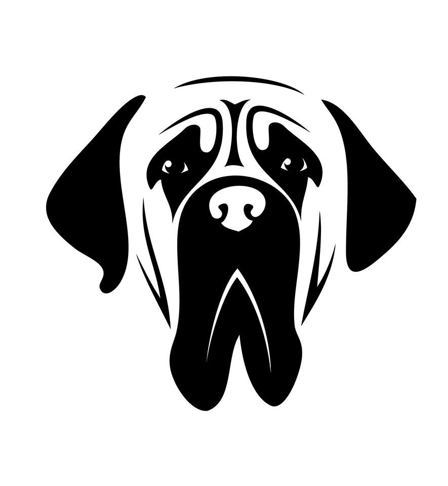 graphic of Mastiff dog face