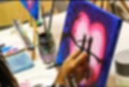 Volunteer paint classes for children