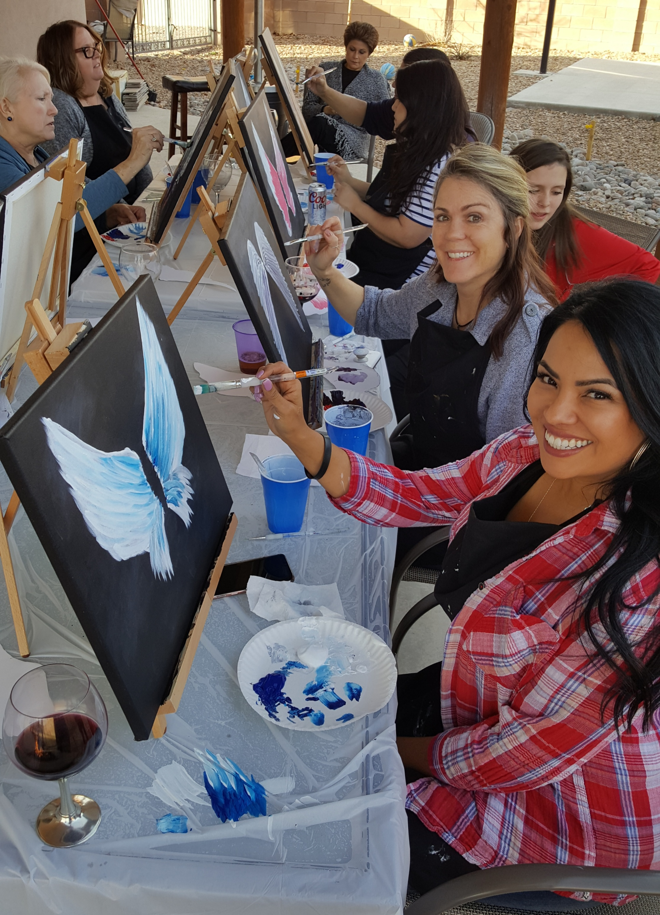 Be Inspired Paint Party Gallery