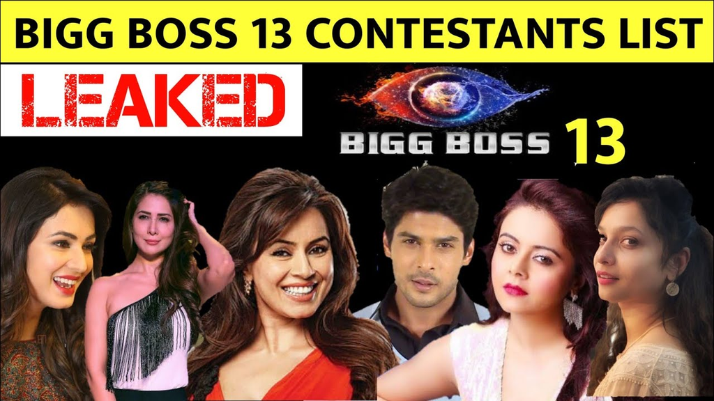 Bigg Boss 13 Contestants List Leaked Here Are The Names Of