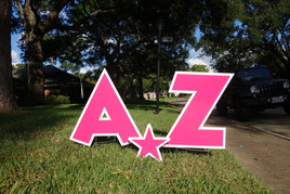 Pink Letters A-Z