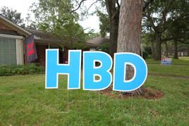 Happy Birthday Light Blue