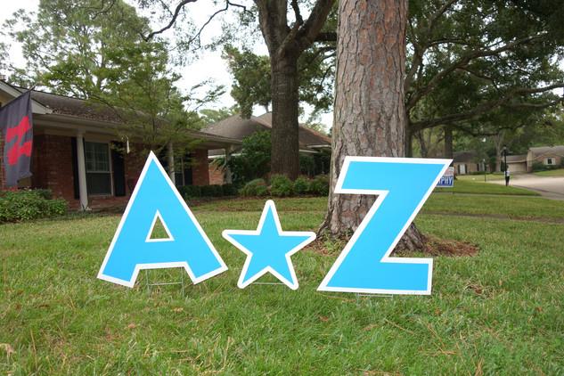 Blue Letters A-Z