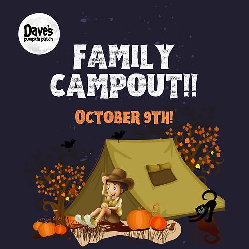 Dave's Pumpkin Patch Family Campout 2021!