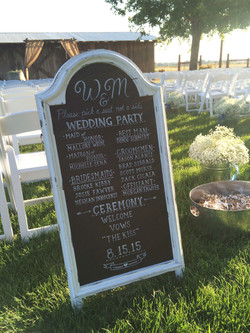 Chalkboard signs available