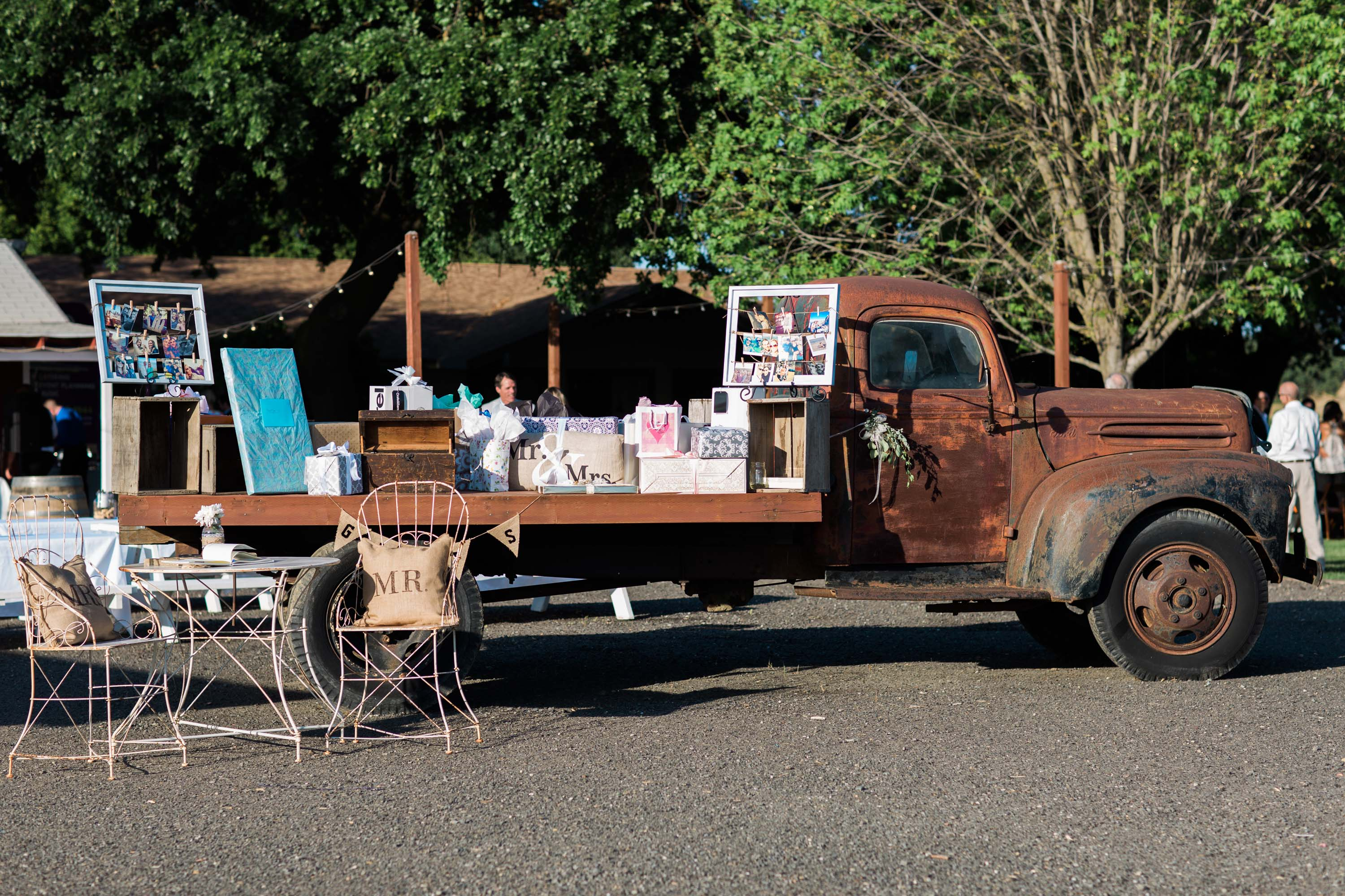 Vintage Flatbed Truck On-Site