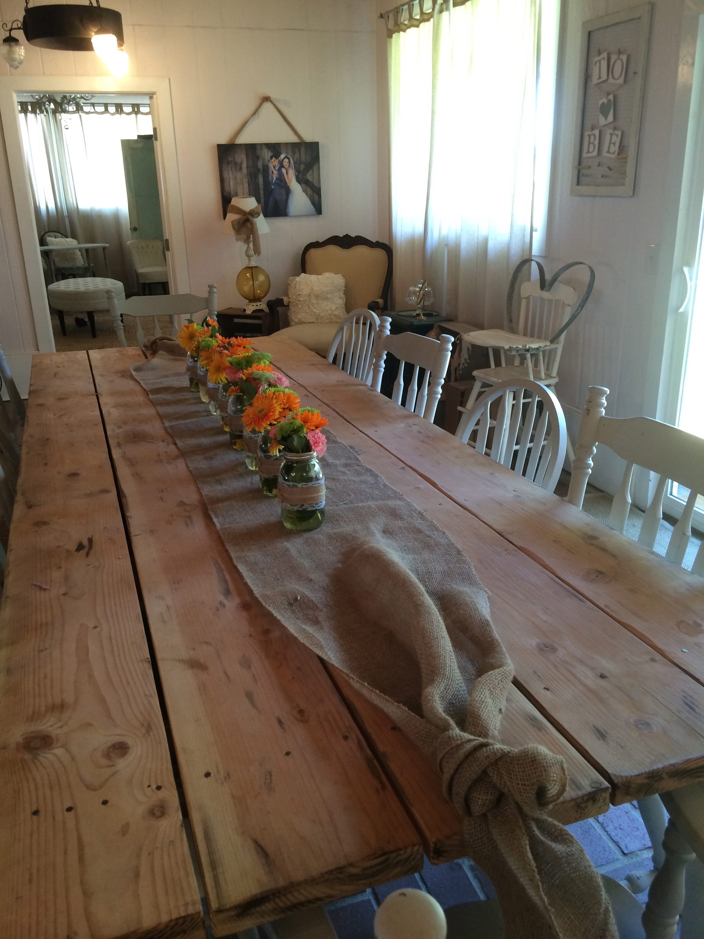 Farmhouse table for 12