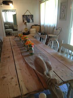 Farmhouse table for 12