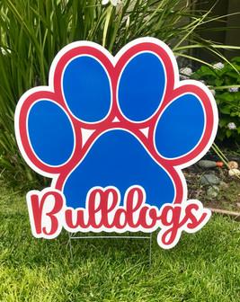 Folsom Bulldogs Paw Print