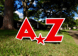 Red Letters A-Z