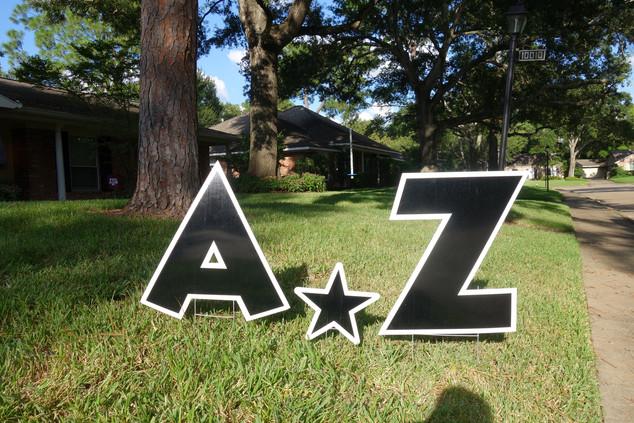 Black Letters A-Z