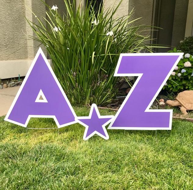 Purple letters A-Z