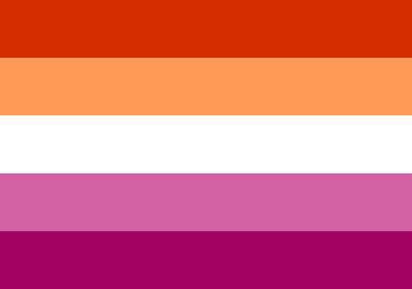 Sticker   Lesbische vlag
