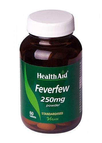 FEVERFEW (Matricaria) 250 mg. HEALTH AID