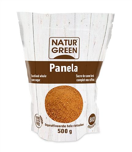 Azúcar de caña cruda entera orgánica sin refinar, Doypack 500 g
