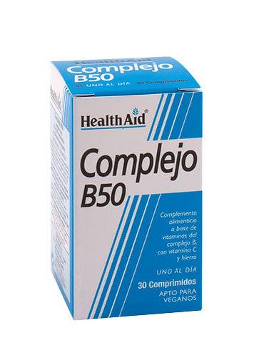 COMPLEJO B50 30 Comprimidos HEALTH AID