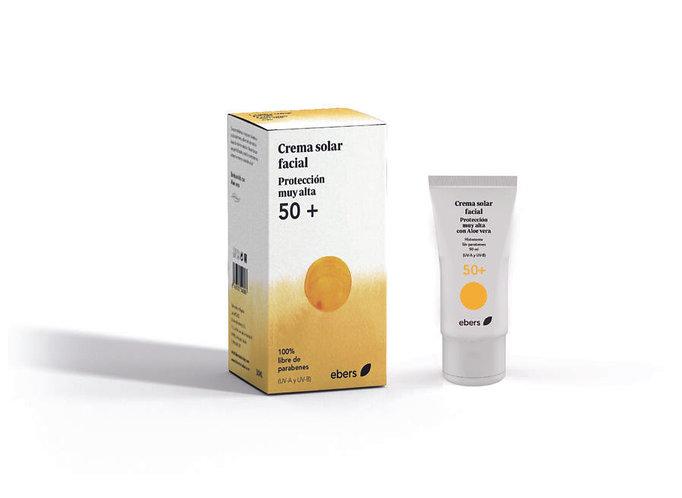 Crema Solar Facial 50+  Protección Muy Alta 50 ml. EBERS