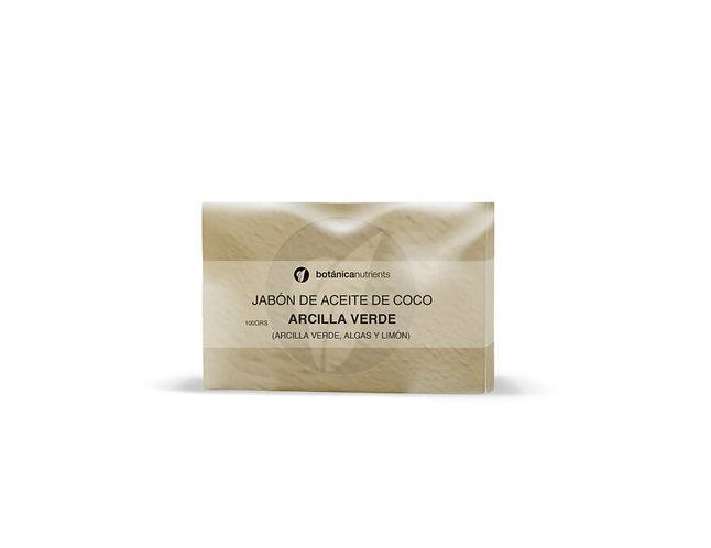 Jabón de Aceite de Coco Arcilla Verde 100 grs. Botánica Nutrients