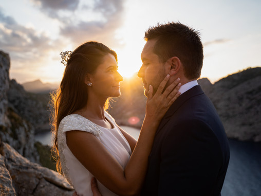 Post-wedding session in Mallorca: Top Location Formentor