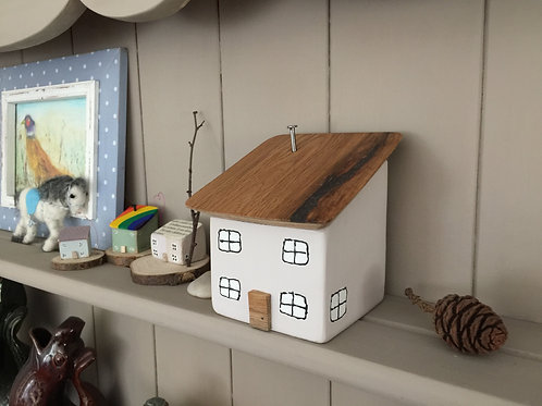 Wooden House Doorstop/Bookend