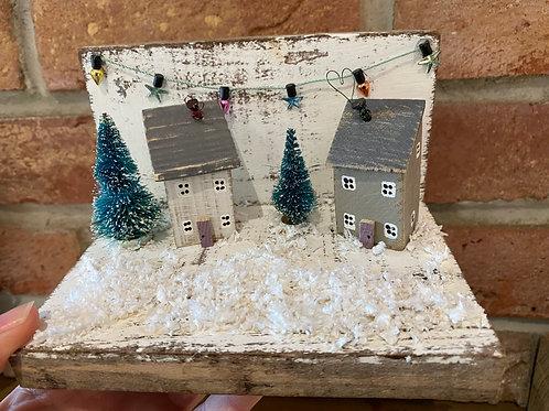 LittleWooden Houses Festive Scene