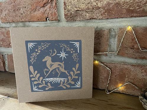 Lino Cut Festive Cards