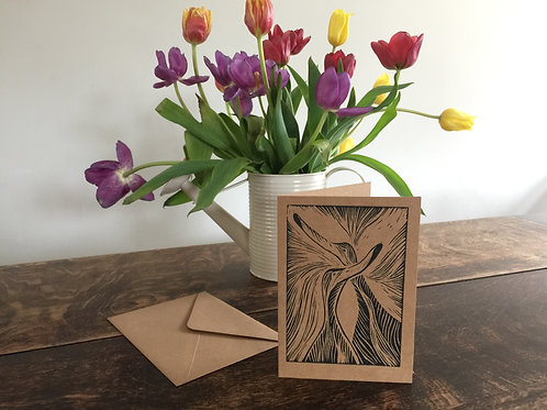 Handmade Lino Cut Card