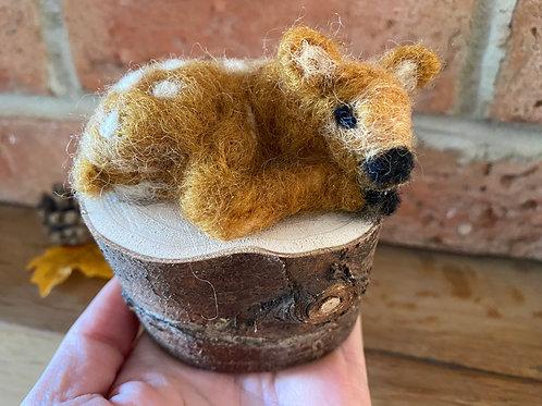 Baby Fawn, Handmade Needle Felt Ornament
