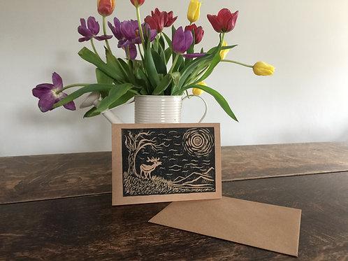 Handmade Lino Cut Card