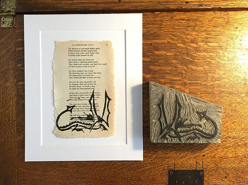 The Hobbit Upcycled Page Original Print