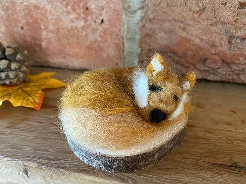 Sleepy Fox Needle Felt